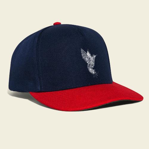 Großer Kolibri in weiß - Snapback Cap