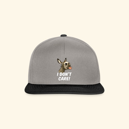 Ane I don't care! (texte blanc) - Casquette snapback