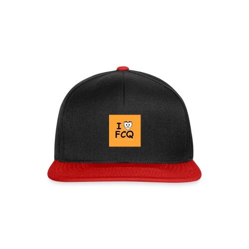 I Love FCQ button orange - Snapback Cap