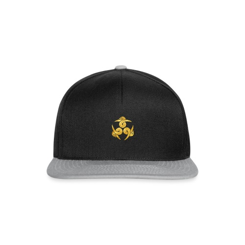 Three Geese Japanese Kamon in gold - Snapback Cap
