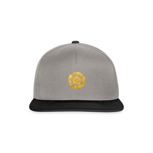 Oda Mon Japanese samurai clan faux gold on black - Snapback Cap