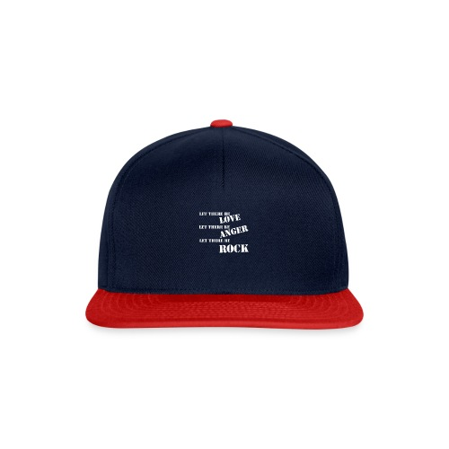 Love Anger Rock - Snapback Cap
