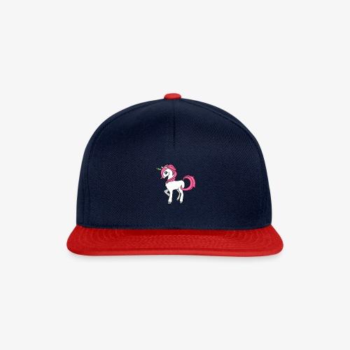 Süsses Einhorn mit rosa Mähne und Regenbogenhorn - Snapback Cap