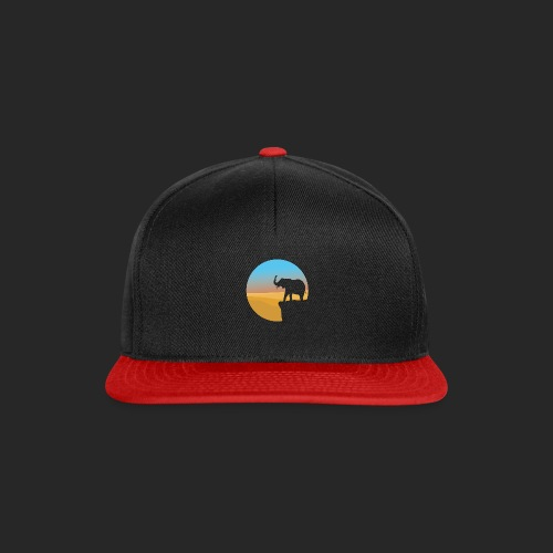 Sunset Elephant - Snapback Cap