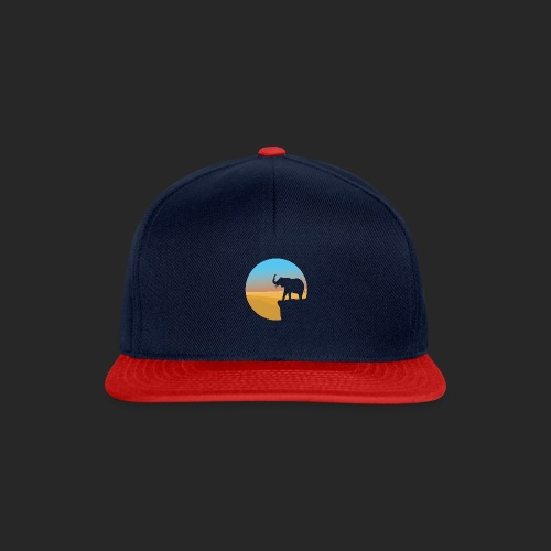 Sunset Elephant - Snapback Cap