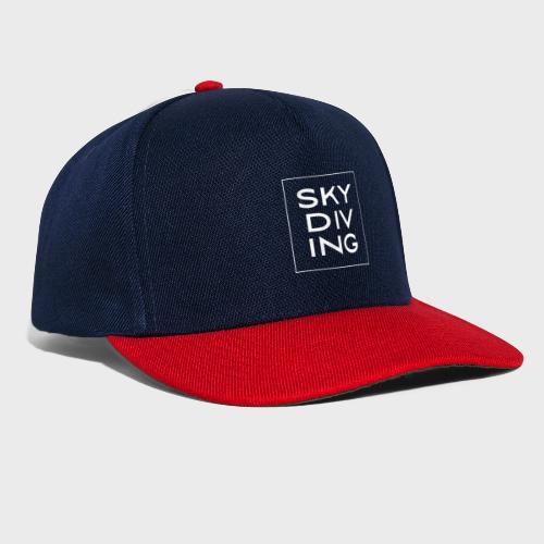 SKY DIV ING White - Snapback Cap