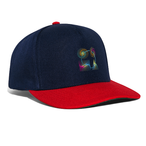 Regenbogen Geometrie - Snapback Cap