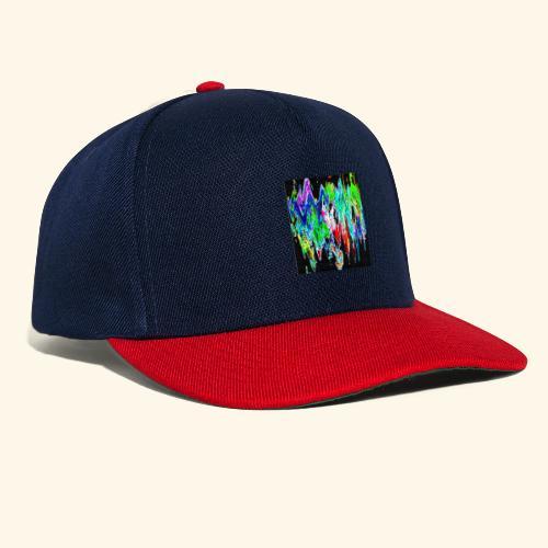Colori ondulati base nero - Snapback Cap
