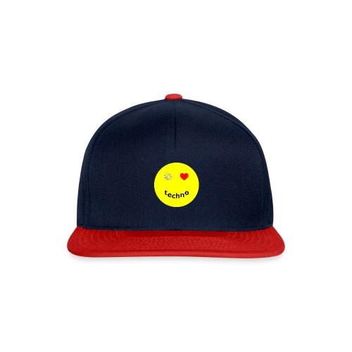 camiseta paz amor techno - Gorra Snapback