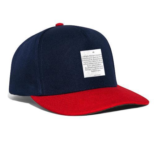 2 Möglichkeiten - Snapback Cap