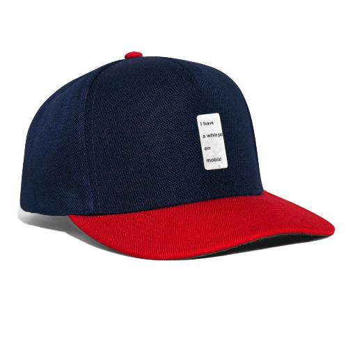 white gap - Snapback Cap