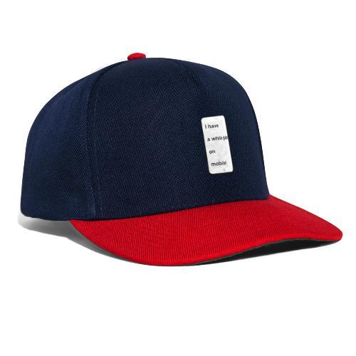 white gap - Snapback Cap