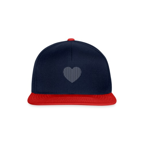 heart_striped.png - Snapback Cap