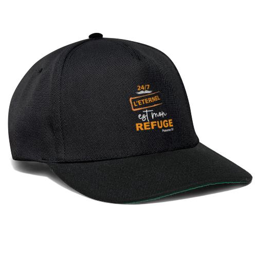 24 7 eternel mon refuge orange blanc - Casquette snapback