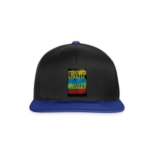 eat sleep game repeat - Snapback cap