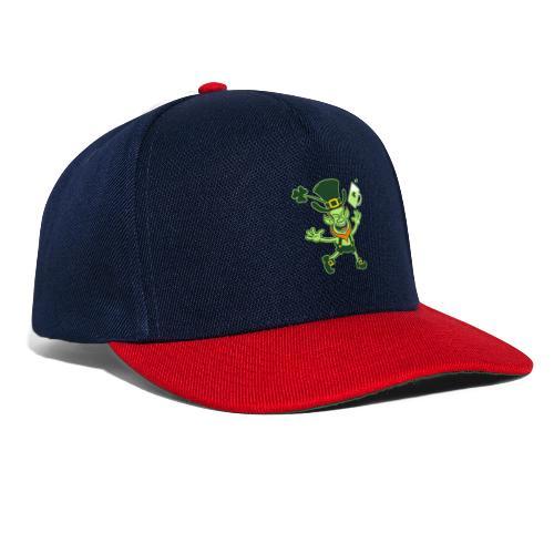 Euphoric Leprechaun Celebrating St Patrick's Day - Snapback Cap