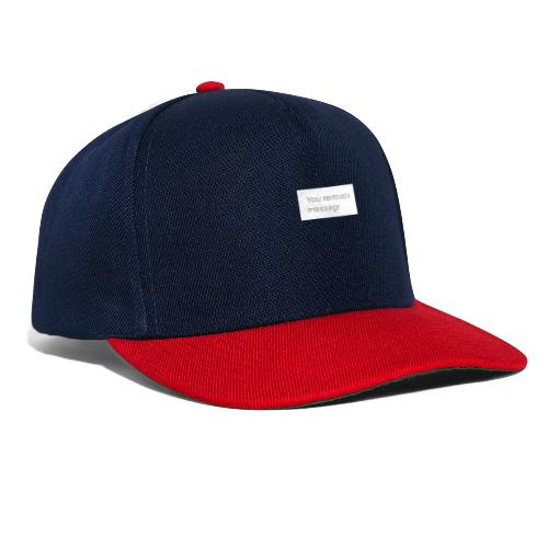 You removed a message - Czapka typu snapback