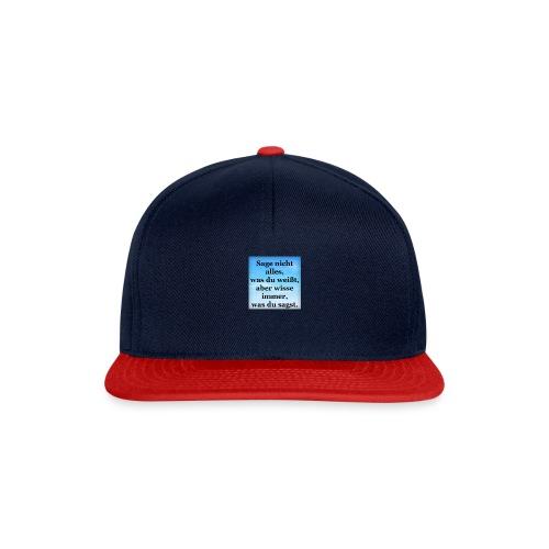wissen - Snapback Cap