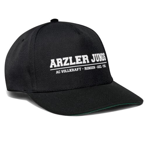Arzler Jungs Schriftzug weiß - Snapback Cap