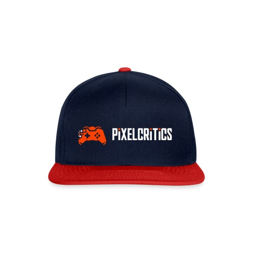 Pixelcritics Logo Schrift Links - Snapback Cap