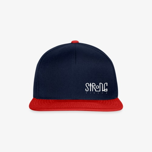 strong vienna logo white trans png - Snapback Cap