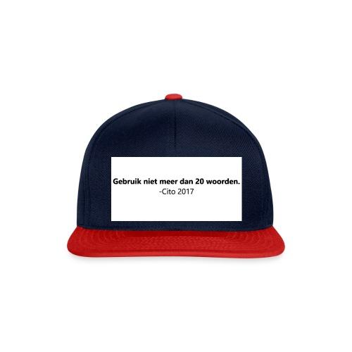 Gebruik niet meer dan 20 woorden - Snapback cap