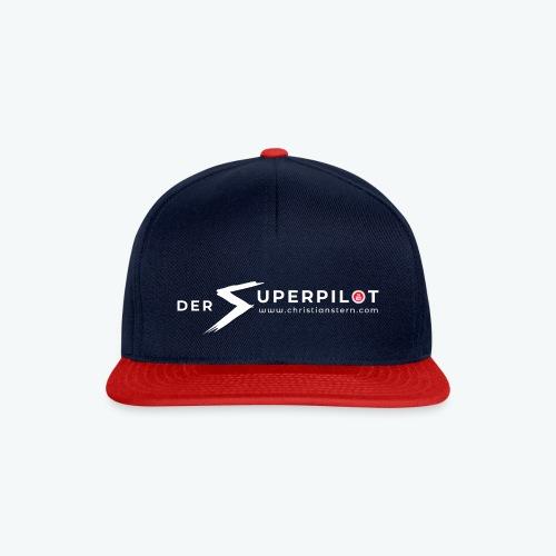 Superpilot Logo Weiß mit Schatten - Snapback Cap