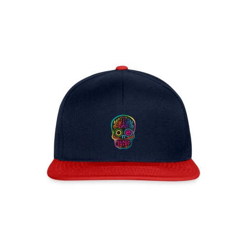 OBS Skull rainbow gif - Snapback Cap