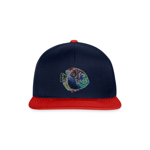Discus colorato pulizia acquario - Snapback Cap