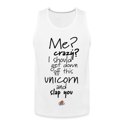 Crazy Unicorn Style (Dark) - Men's Premium Tank Top