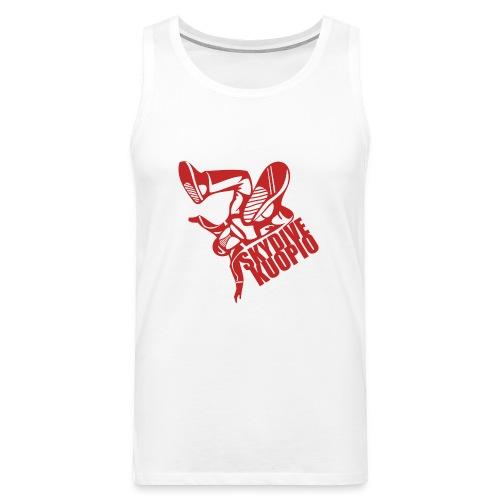 KLU logo red - Miesten premium hihaton paita