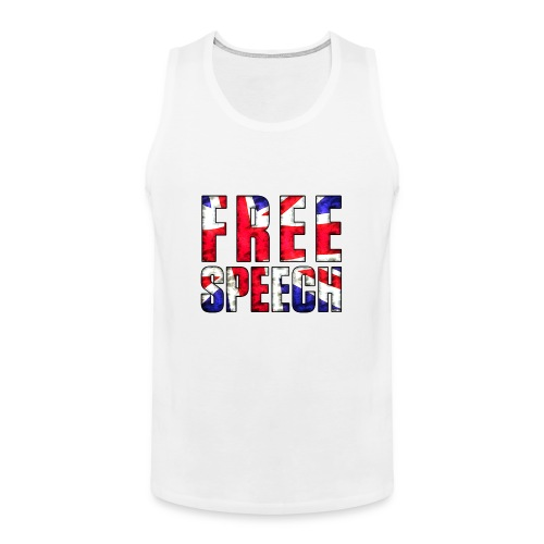 Free Speech UK - Men's Premium Tank Top