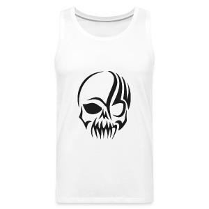 tribals skull - Männer Premium Tank Top