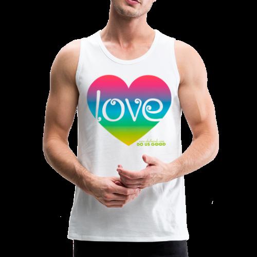 LOVE - Miesten premium hihaton paita
