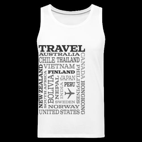 Travel Places Gray design - Miesten premium hihaton paita