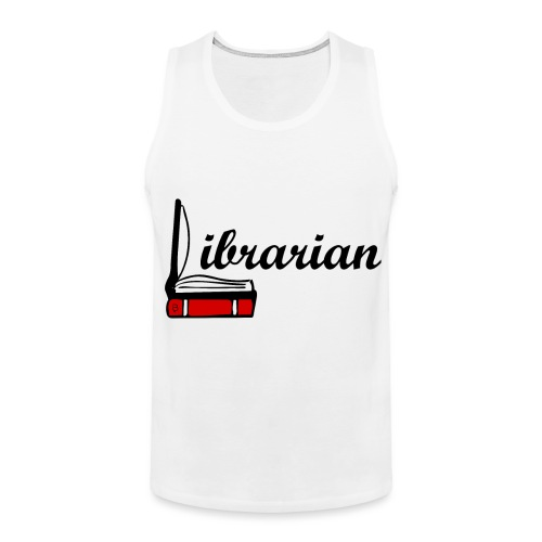 0324 Librarian Librarian Library Book - Men's Premium Tank Top