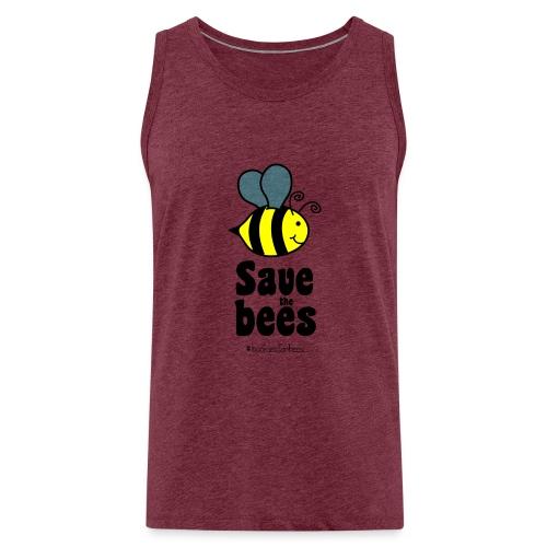 Bees9-1 save the bees | Bienen Blumen Schützen - Men's Premium Tank Top