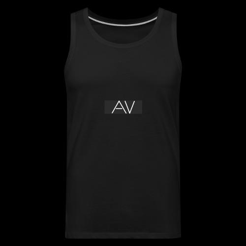 AV White - Men's Premium Tank Top