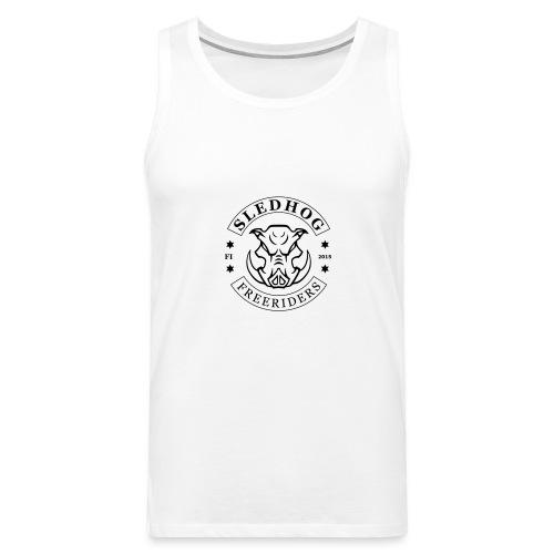 Sledhog-logo_2 - Miesten premium hihaton paita