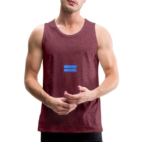 Thank u, next - Mannen Premium tank top