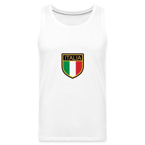 SCUDETTO ITALIA CALCIO - Canotta premium da uomo