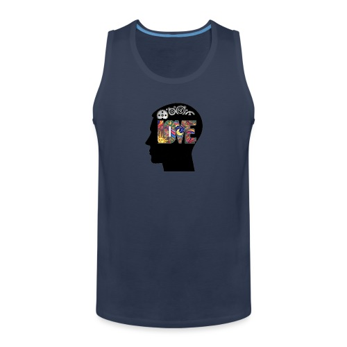 Love in my head - Mannen Premium tank top