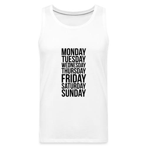 Days of the Week - Men's Premium Tank Top