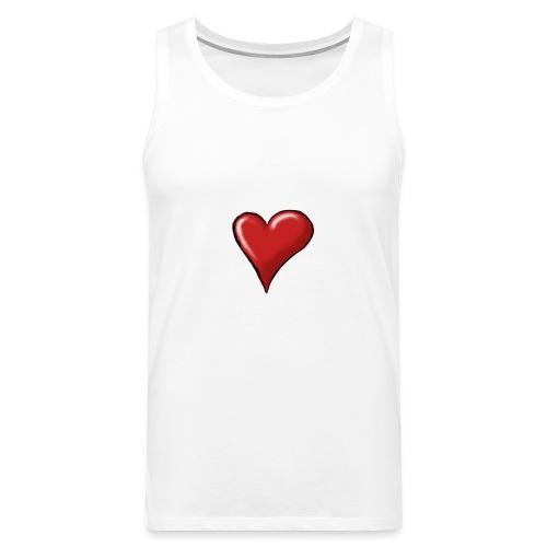 Love (coeur) - Débardeur Premium Homme