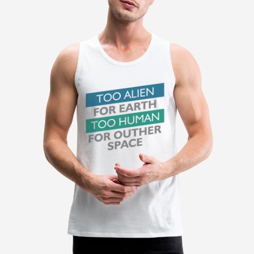 alien space astronaut - Männer Premium Tank Top