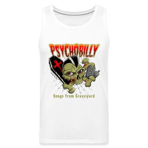 pycho skull color - Tank top premium hombre