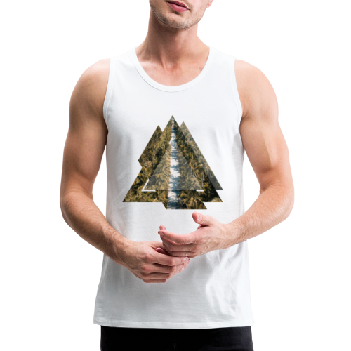Triangle Tropical Palm Street - Männer Premium Tank Top