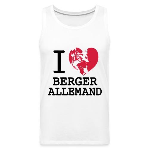 I love Berger Allemand - Débardeur Premium Homme