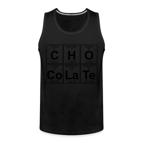 C-H-O-Co-La-Te (chocolate) - Full - Men's Premium Tank Top