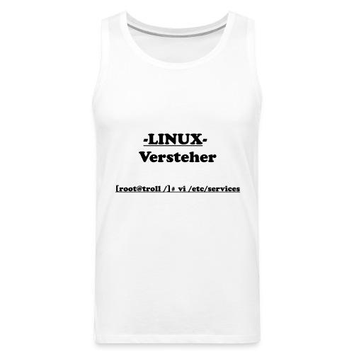Linux-Versteher: VI - Männer Premium Tank Top
